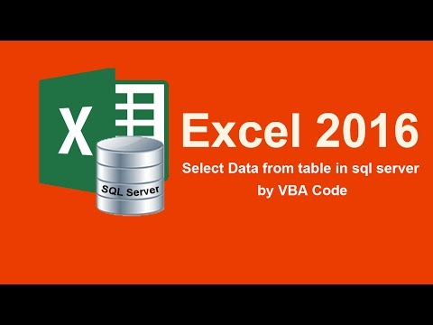 How to select data from table in sql server by Excel VBA Code
