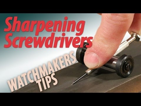 How to Sharpen Your Screwdriver Blades