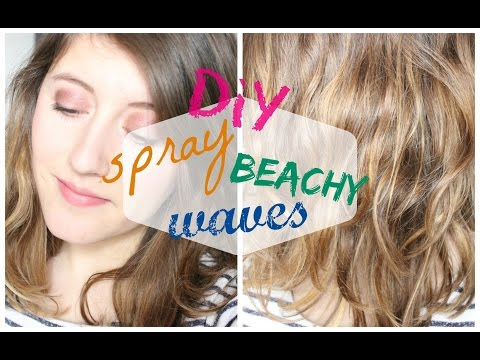 DIY spray beachy waves