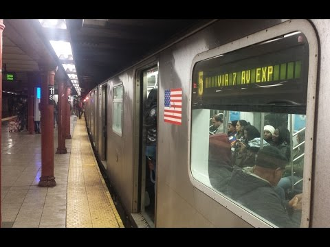 IRT Lenox Ave Line: Downtown & Uptown R142 & R62 (2) (3) (5) Train @ Central Park North-110th Street
