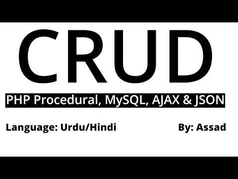 CRUD in PHP AJAX: Brief Introduction Urdu/Hindi Part 1/6