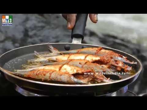 FISH FRY RECIPE MAKING NEAR DUDH SAGAR WATER FALLS | ASIA'S BIGGEST WATERFALLS | FAMOUS WATERFALL