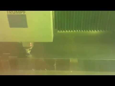 Laser cutting thin sheet aluminium