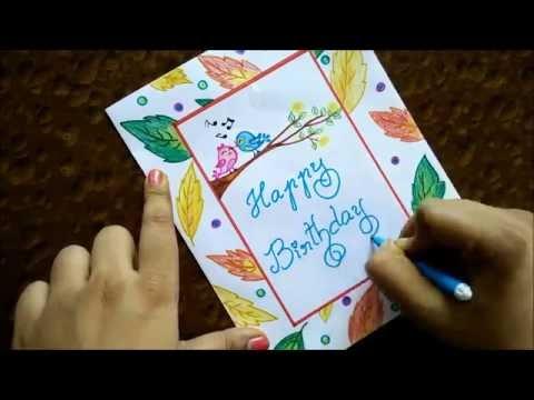Very easy greeting card DIY Beginners step by step guide Speed Drawing