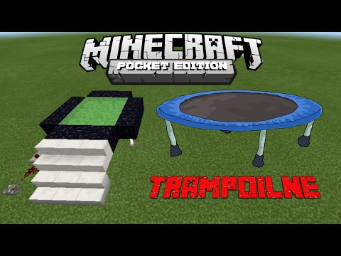 How To Make Trampoline 100% Working - Minecraft PE