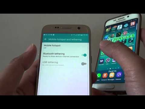 Samsung Galaxy S7: How to Share Internet Connection Via Bluetooth Tethering