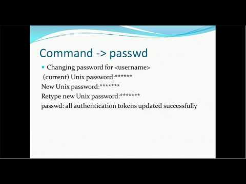 03.  Unix Tutorial  - Unix Basic Commands - passwd, users, ls and many more 2