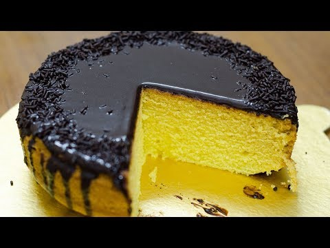 EGGLESS VANILLA CUSTARD CAKE I YELLOW CAKE I Without Oven