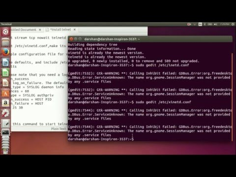 How to Install and configure Telnet server in ubuntu
