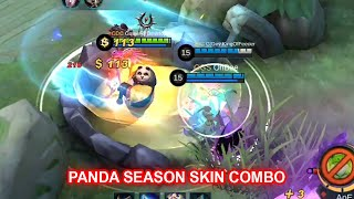 Panda seasonal SKIN COMBO Gameplay