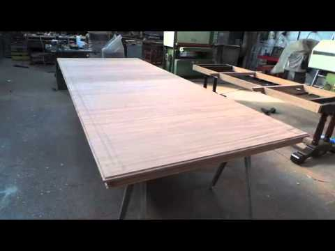 Inserting decorative inlay onto a new table top