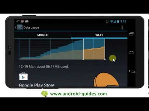Checking mobile and wifi data usage on Android