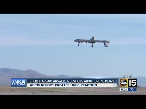 Sheriff Arpaio answers questions about drone plans