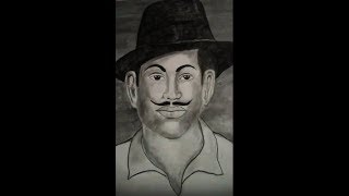How to draw sketch of bhagat singh by aman