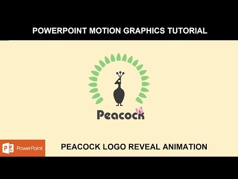Peacock Logo Reveal Animation | Motion Graphics in PowerPoint 2016 Tutorial