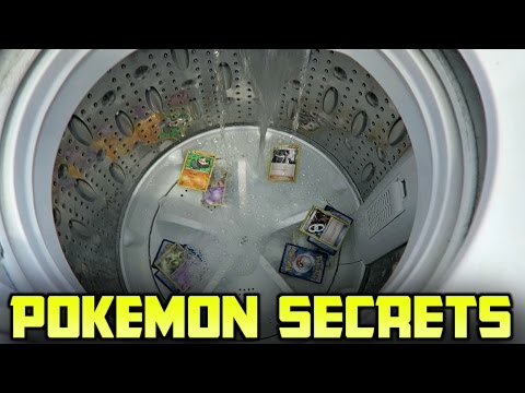 How To Transform Your Old Pokemon Cards into Ultra Rares Using the WASHING MACHINE!