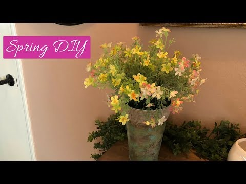 Dollar Tree | Walmart Spring Container And Flower Arrangement