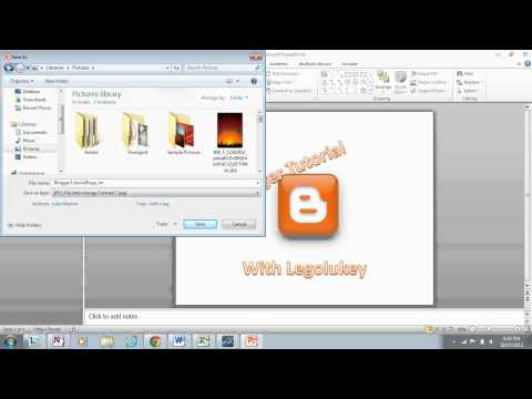 How to Save a Powerpoint Slide as a jpg file