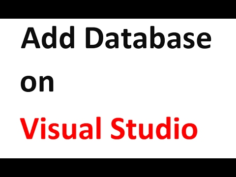 How To Add Local Database on Visual Studio in C# Projects