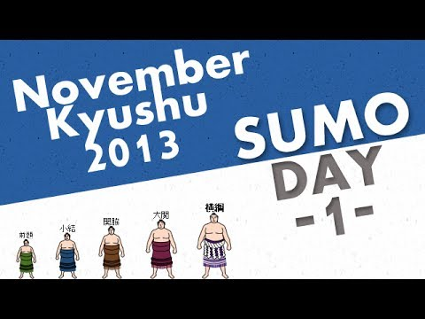 Grand Sumo Tournament - Kyushu Basho - November 2013 [ Day 1 ]
