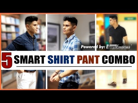 5 BEST SHIRT and PANT Combinations EVERY Man NEEDS | BEST Smart Casual OUTFITS for INDIAN MEN