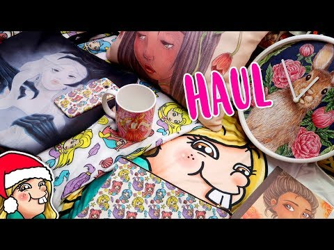 REDBUBBLE HAUL - A Look at my Merch 🎄Arty Advent Day 2🎄