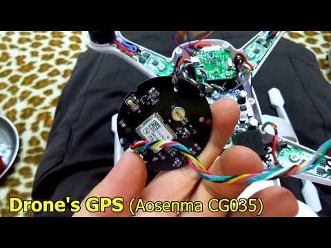Drone crash after modifying GPS settings via USB port (Aosenma CG035)