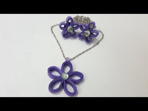 How to make quilling ear stud earring, easy paper jewelry