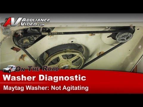 Washer Diagnostic & Repair Not agitating - Maytag, Whirlpool, Roper, Kenmore, Sears,