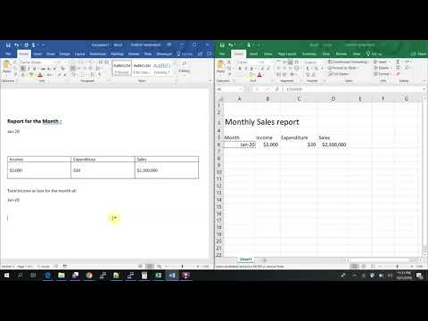 Linking MS word and Excel dynamically | auto update