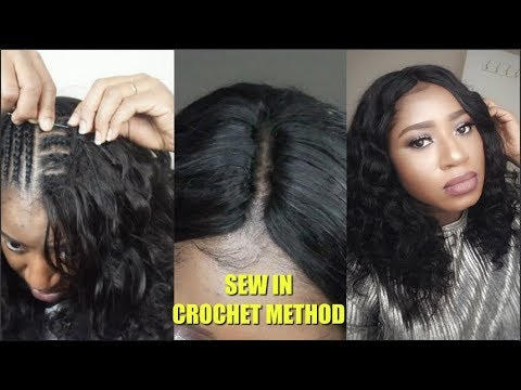 FULL SEW IN NO LEAVE OUT OR CLOSURE    CROCHET METHOD Ft SuperNova Aunty Funmi curl