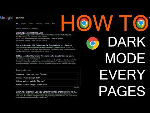 How to set Every Web Page on Dark Mode