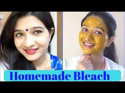 Homemade BLEACH for fair & glowing skin / Natural homemade facial bleach for skin lighting / AVNI