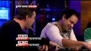 Phil Hellmuth vs Tony G, G blowing up.