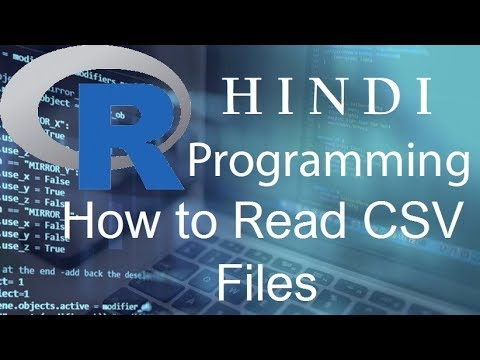 R Programming Tutorial   20   How to Read CSV Files