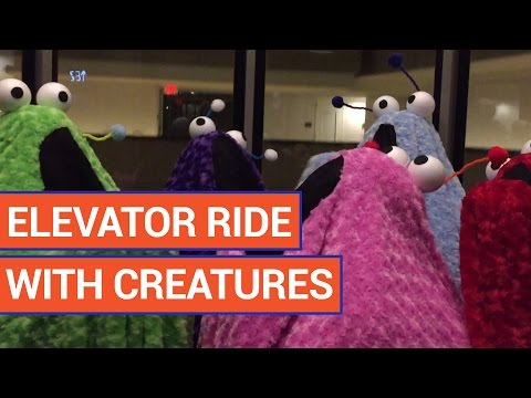 Elevator Ride With People in Costumes Video 2016 | Daily Heart Beat