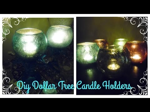 DIY | COLORED MERCURY GLASS DOLLAR TREE