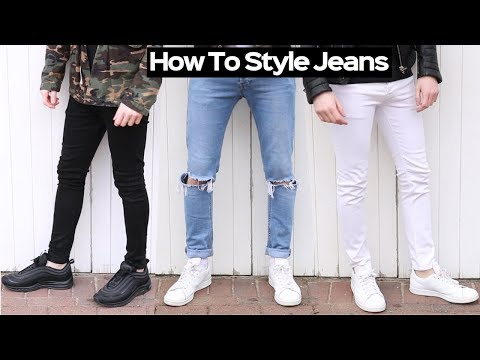 How To Style Denim Jeans Like A BOSS + DIY Knee Ripped Jeans Tutorial 2018