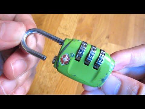 How to Reset TSA Lock Combo Tutorial