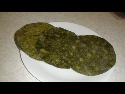 Homemade Spinach Tortillas Recipe Video - Palak Rotis or Parathas