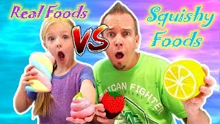Download GIANT SQUISHIES vs REAL FOOD CHALLENGE!!! The Best Squishy Toys!!! Video
