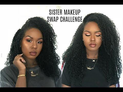 Sister Makeup Swap Challenge
