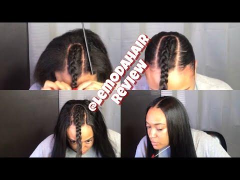 Natural FLATT Start to finish | U Part Wig | Lemoda Hair