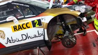WRC Citroen rebuilding car