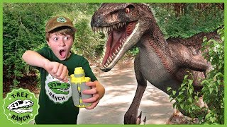Download Dinosaur Escape Showdown! Giant Dinosaurs for Kids with Nerf Toy Adventure & Mystery Toys Video