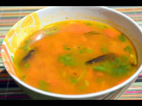 Rasam - Arhar Dal/Toor Dal fiery hot soup - South Indian style - no onion no garlic