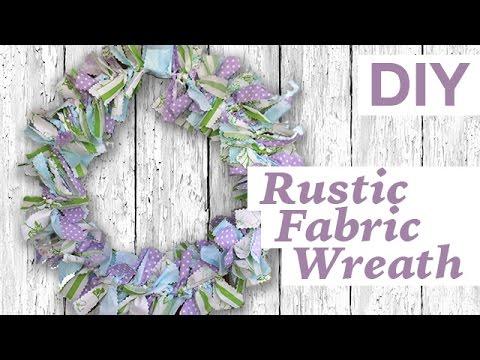 DIY Rustic Fabric Wreath | ArtsyPaints