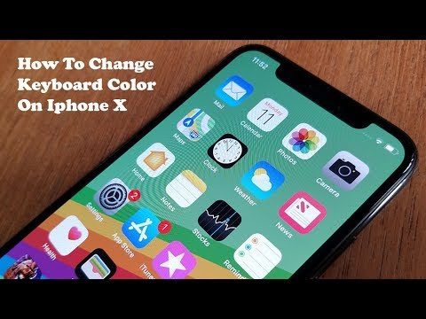 How To Change Keyboard Color On Iphone X - Fliptroniks.com