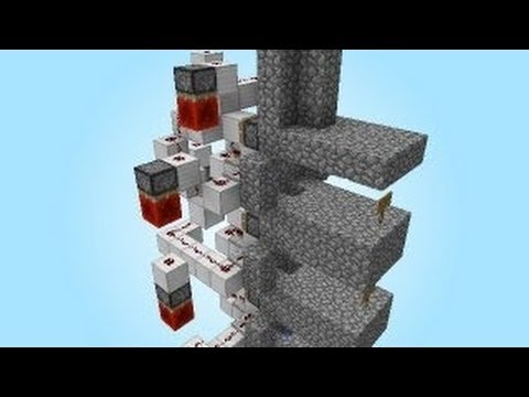 Minecraft 1.7.4 Tutorial - Redstone Mine Drop System