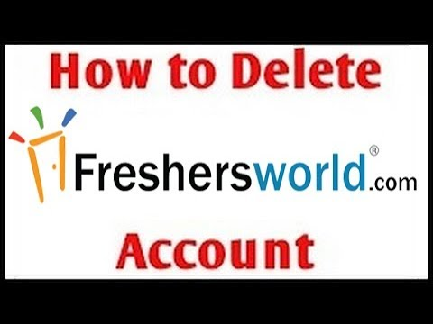 How To Delete Freshersworld Account | within 1minute!